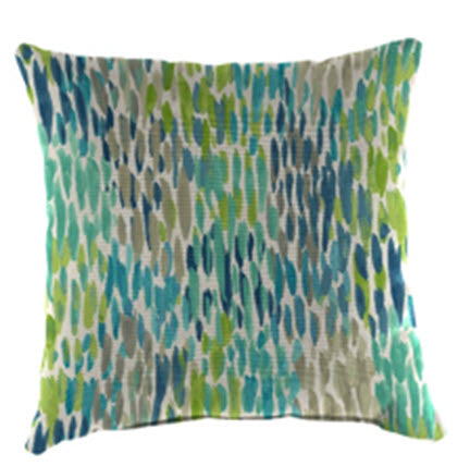 Throw Pillow - Blue Green Rain
