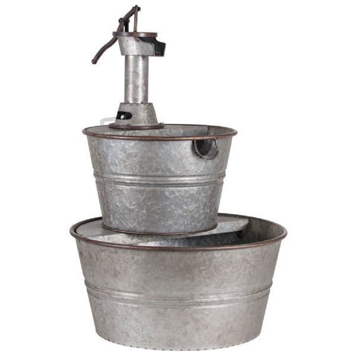 Galvanized Pump & Tub Fountain - Ship to Store - Pickup In Store Only