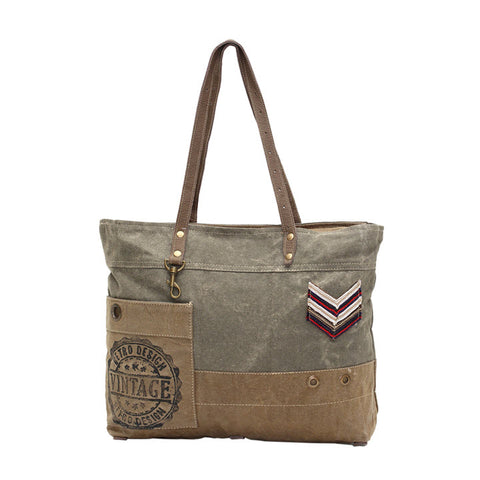 Canvas Tote - Military Badge