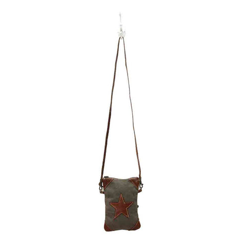 Cross Body Bag - Leather Star