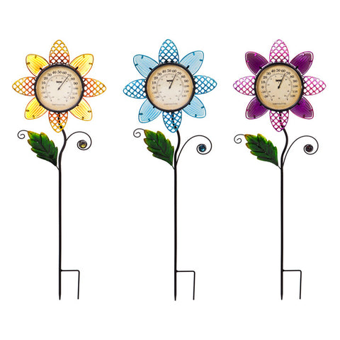 Flower Thermometer Stake