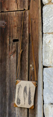 Cross Body Bag - Three Feathers
