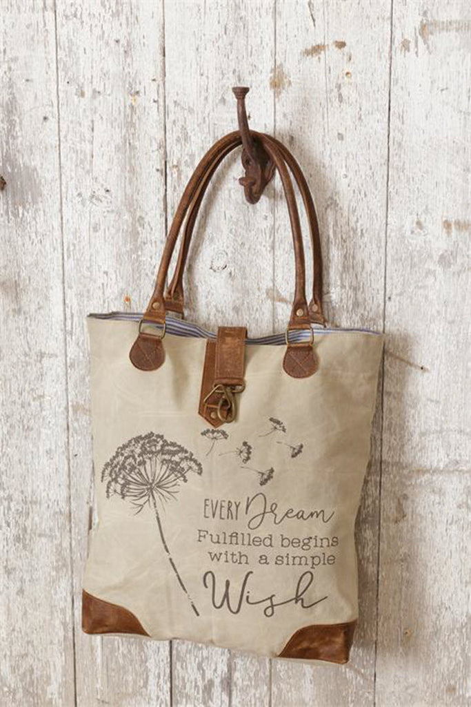 Canvas Tote - Every Dream Begins Wish