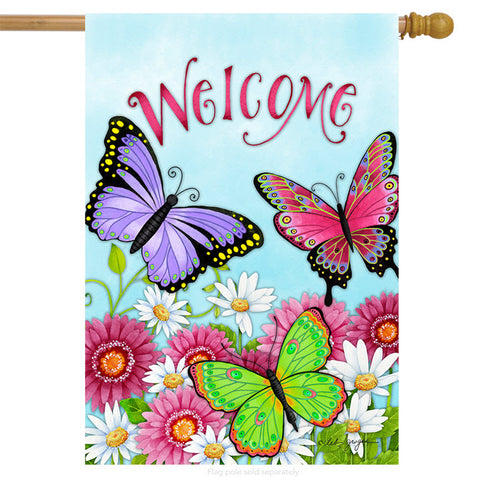 Art Flag - Butterfly Welcome