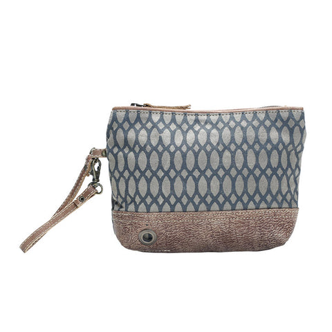 Wristlet Bag - Honeycomb Print