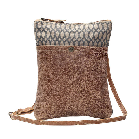 Cross Body Bag - Honeycomb Print