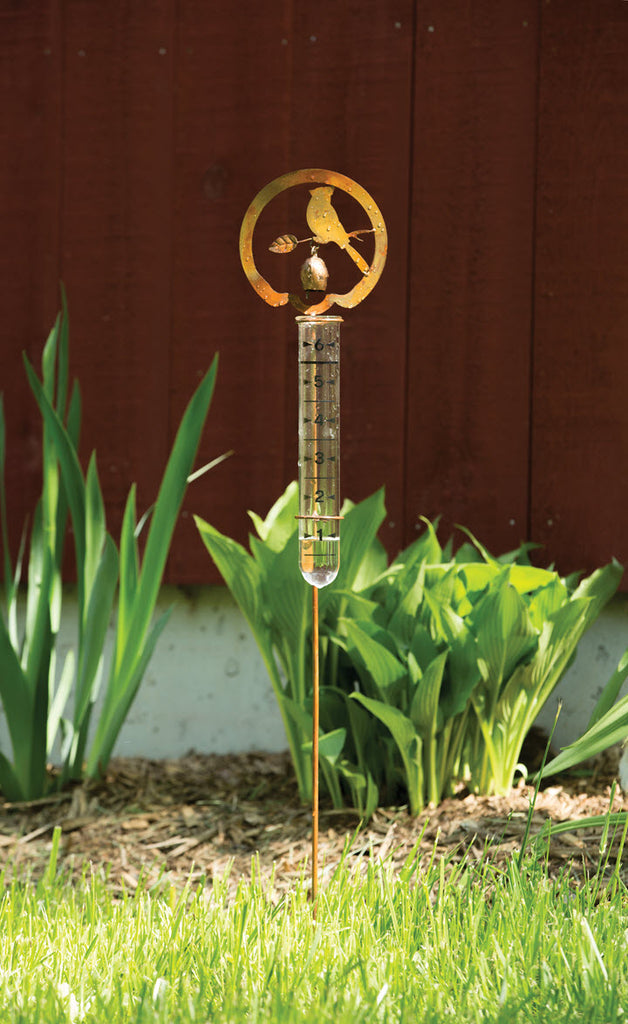 Copper Bell with Bird Rain Gauge Stake - Ship to Store - Pickup In Store Only