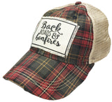 Trucker Hat - Plaid Backroads & Bonfires