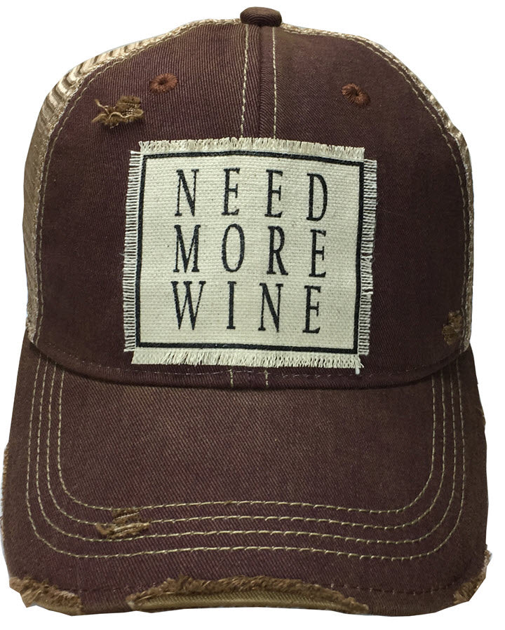 Trucker Hat - Need More Wine