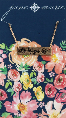 Necklace-Hope Gold Carded