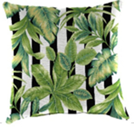 Throw Pillow - Freemont Palm with Stripes