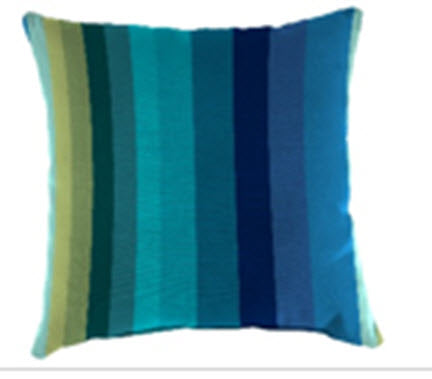 Throw Pillow - Cool Blue Stripes