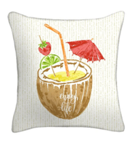 Throw Pillow - Enjoy Life Coconut