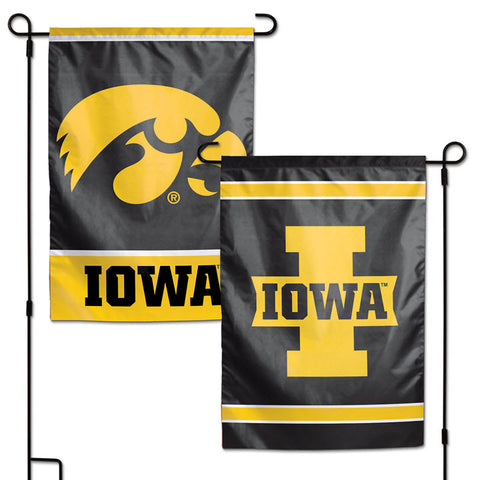 Garden Flag-Iowa Hawkeye with I Reversible