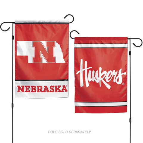 Garden Flag-Nebraska with Huskers