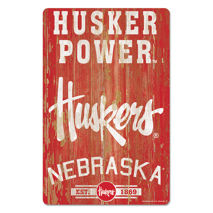 Nebraska Husker Power Wall Decor