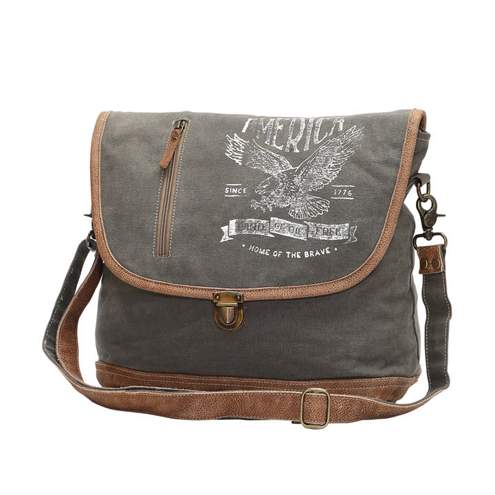 Messenger Bag - Eagle Flap Over