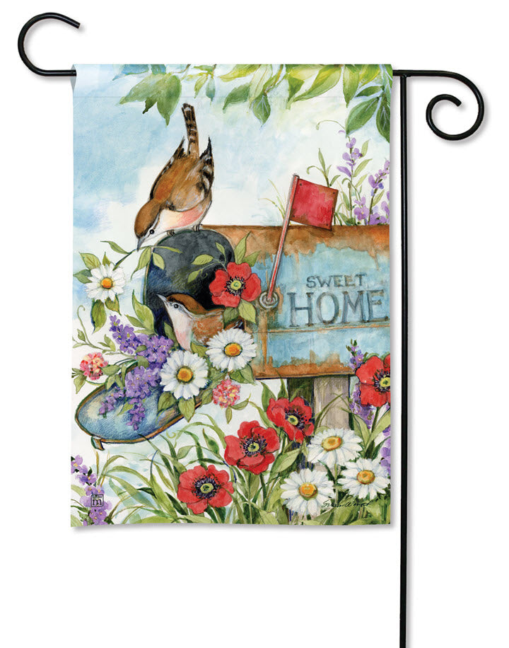 Garden Flag - Sweet Home with Mailbox