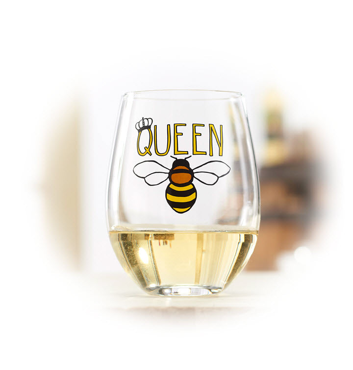 Wine Glass - Queen Bee - Ship to Store - Pickup In Store Only