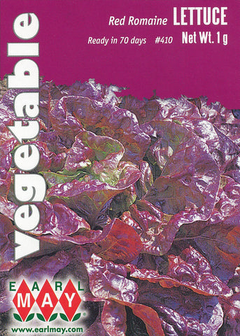 Red Romaine Lettuce Seeds
