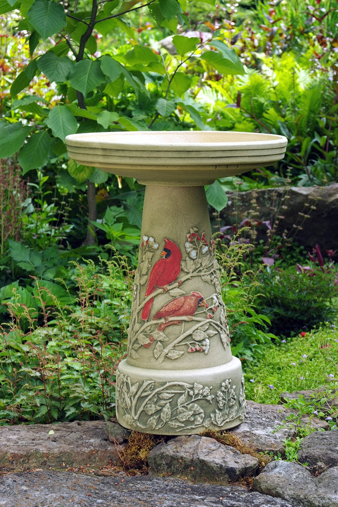 Summer Cardinal Birdbath Pedestal Only - Ship to Store - Pickup In Store Only