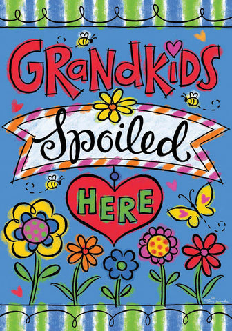 GRANDKIDS WELCOME  GARDEN FLAG