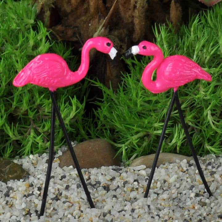 MINI PINK FLAMINGO SET/2