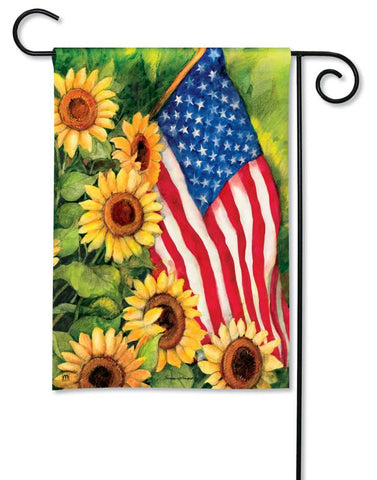 AMERICAN SUNFLOWER GARDEN FLAG