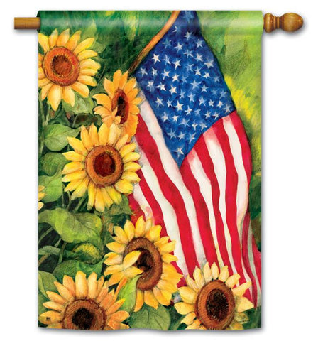 AMERICAN SUNFLOWER ART FLAG