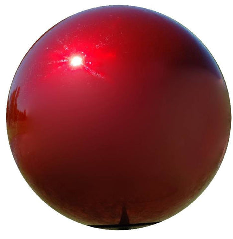 RUBY MIRROR GAZING BALL 12""
