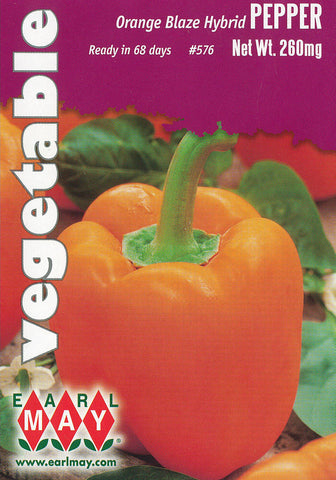 Orange Blaze Hybrid Peppers Seeds