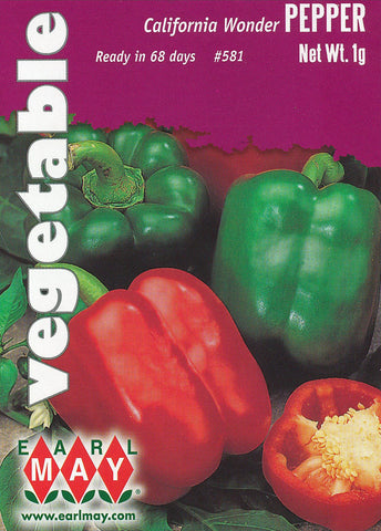 California Wonder Peppers Seeds