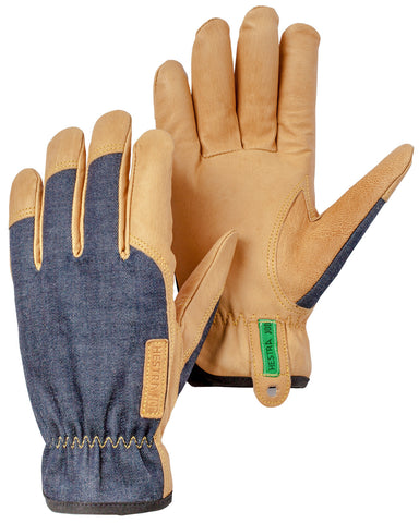 Kobalt Denim & Leather Gloves
