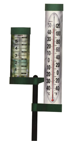 Rain Gauge with Thermometer