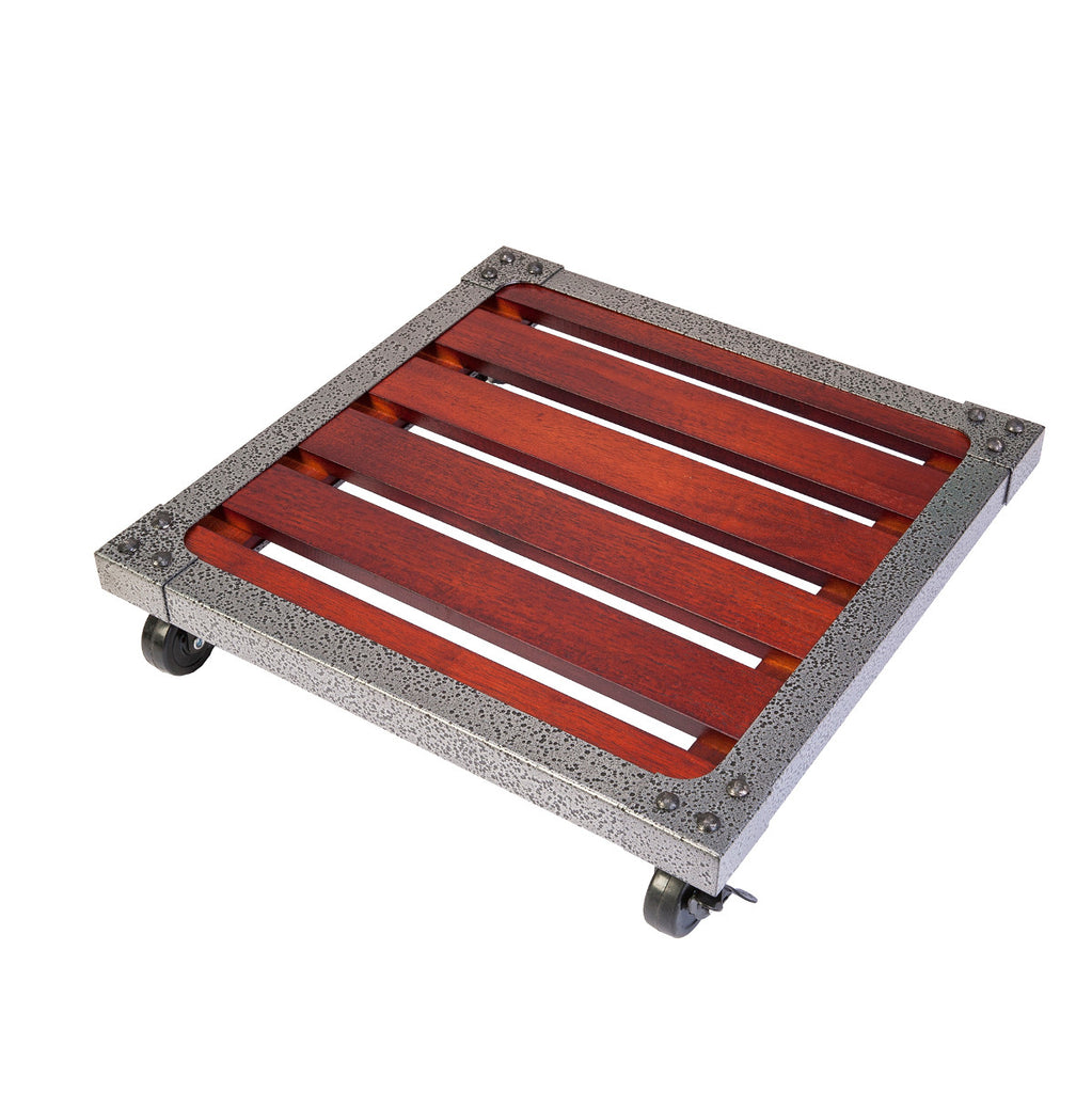 Panacea Square Industrial Wood Plant Caddy