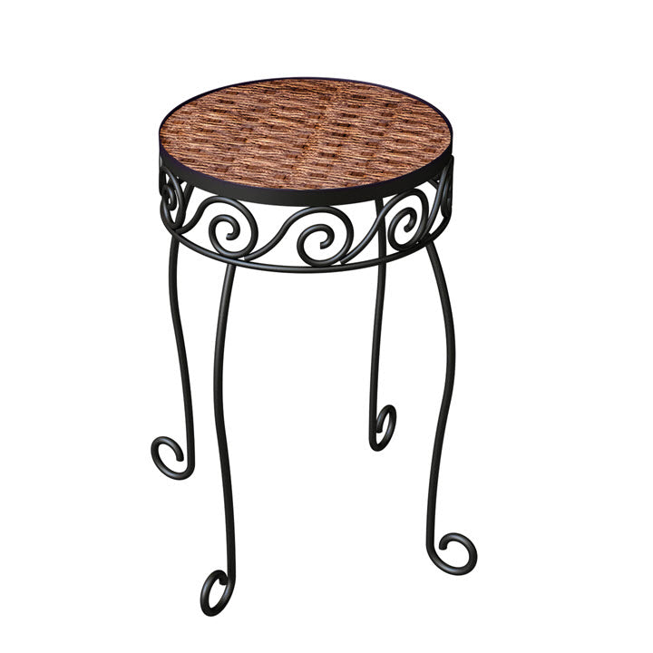 Resin Wicker Plant Stand