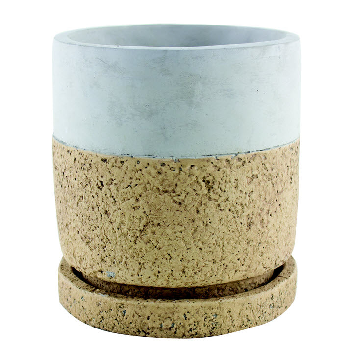 Cylinder Modern Cork Pot with Tray