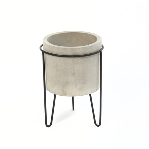 Cement Planter with Metal Stand - Ship to Store - Pickup In Store Only