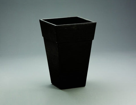 Crescent Enzo Square Planter Caviar Black - Ship to Store - Pickup In Store Only