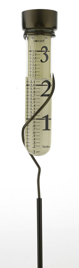 Grande View Bronze Patina Rain Gauge
