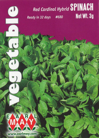 Red Cardinal Hybrid Spinach Seeds