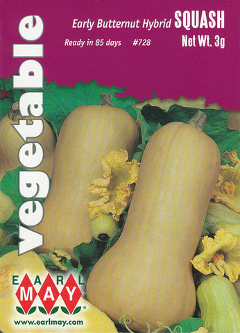 Early Butternut Hybrid Squash Seeds