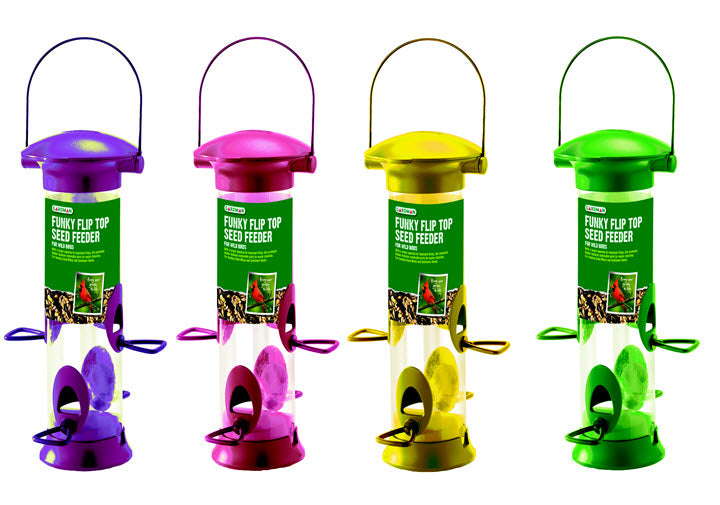Flip Top Funky Seed Feeder