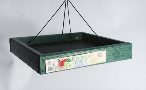 Recycled Plastic Platform Bird Feeder