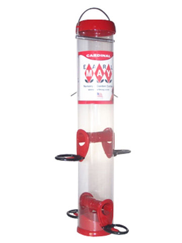 Red Metal Port Cardinal Feeder