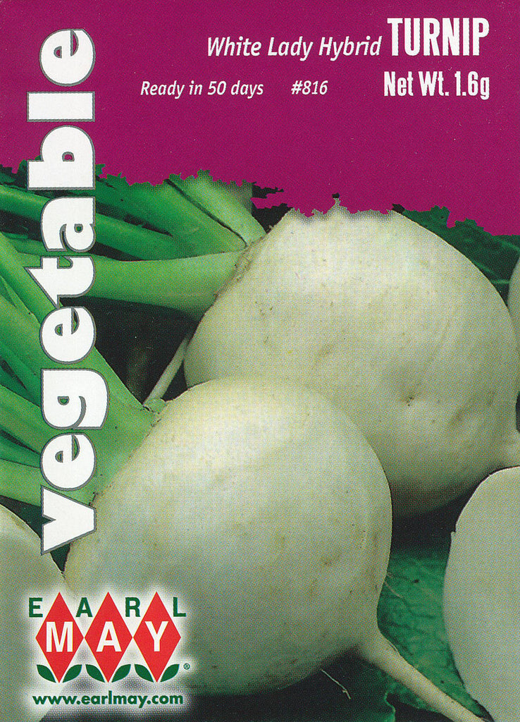 White Lady Hybrid Turnips Seeds