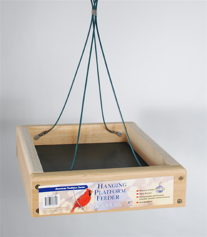 Woodlink Hanging Platform Bird Feeder