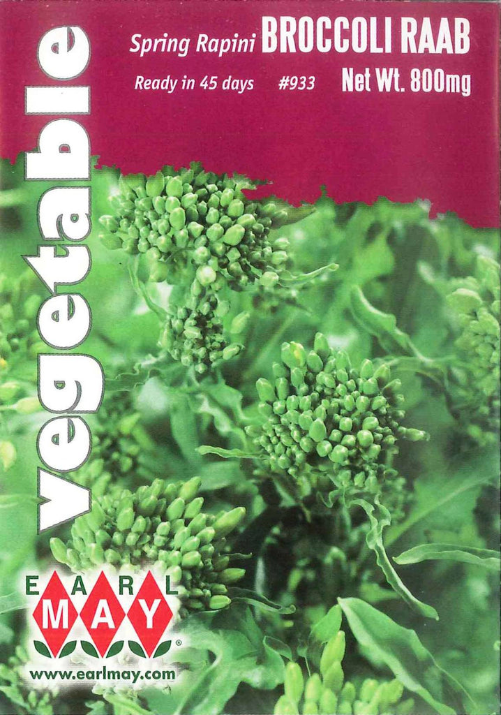 Spring Rapini Broccoli Raab Seeds