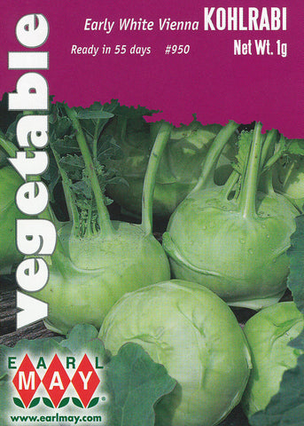 Early White Vienna Kohlrabi Seeds