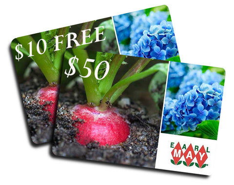$50 Earl May Gift Card + FREE $10 Earl May Gift Card - ONLINE ONLY